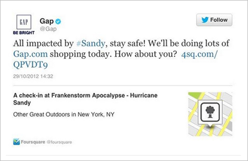 Hurricane Sandy Gap