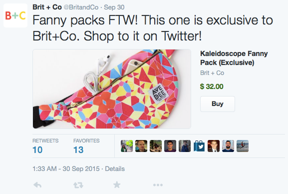 Twitter's buy now
