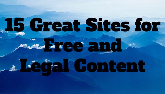 free and legal content