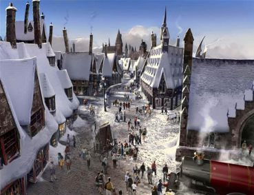 Primer vistazo a Hogsmeade en The Wizarding World of Harry Potter