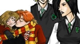 Batalla: Ron Weasley y Hermione Granger contra Draco Malfoy y Pansy Parkinson