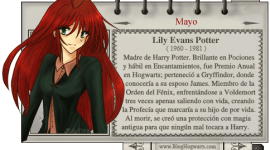 Lily Evans Potter – Mago del Mes Mayo