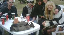 Daniel Radcliffe, Rupert Grint y Bonnie Wright asisten a Reading Festival 2009