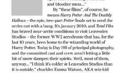 Scans: Artículo de 'Total Magazine' Dedicado a 'Harry Potter y las Reliquias de la Muerte, Parte I'