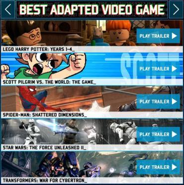 Videojuego 'Harry Potter LEGO Años 1-4', Nominado para los 'Video Game Awards 2010'