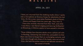 Alan Rickman y su Carta de Agradecimiento a JK Rowling por la Saga de 'Harry Potter'