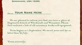 'WBShop' Presenta Cartas de aceptación al Colegio Hogwarts de Magia y Hechicería!