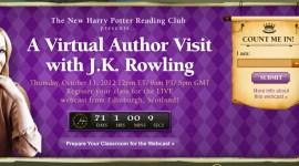 Rowling presenta el Harry Potter Reading Club de Scholastic en octubre!