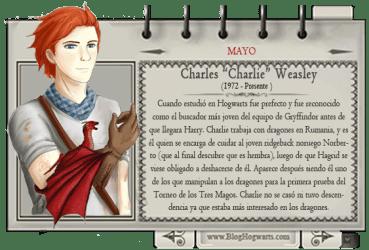 Charlie Weasley – Mago del Mes Mayo