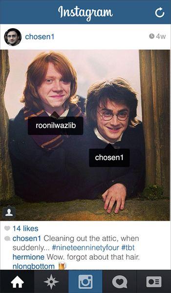 ¿Cómo sería el Instagram de Harry Potter en la actualidad?