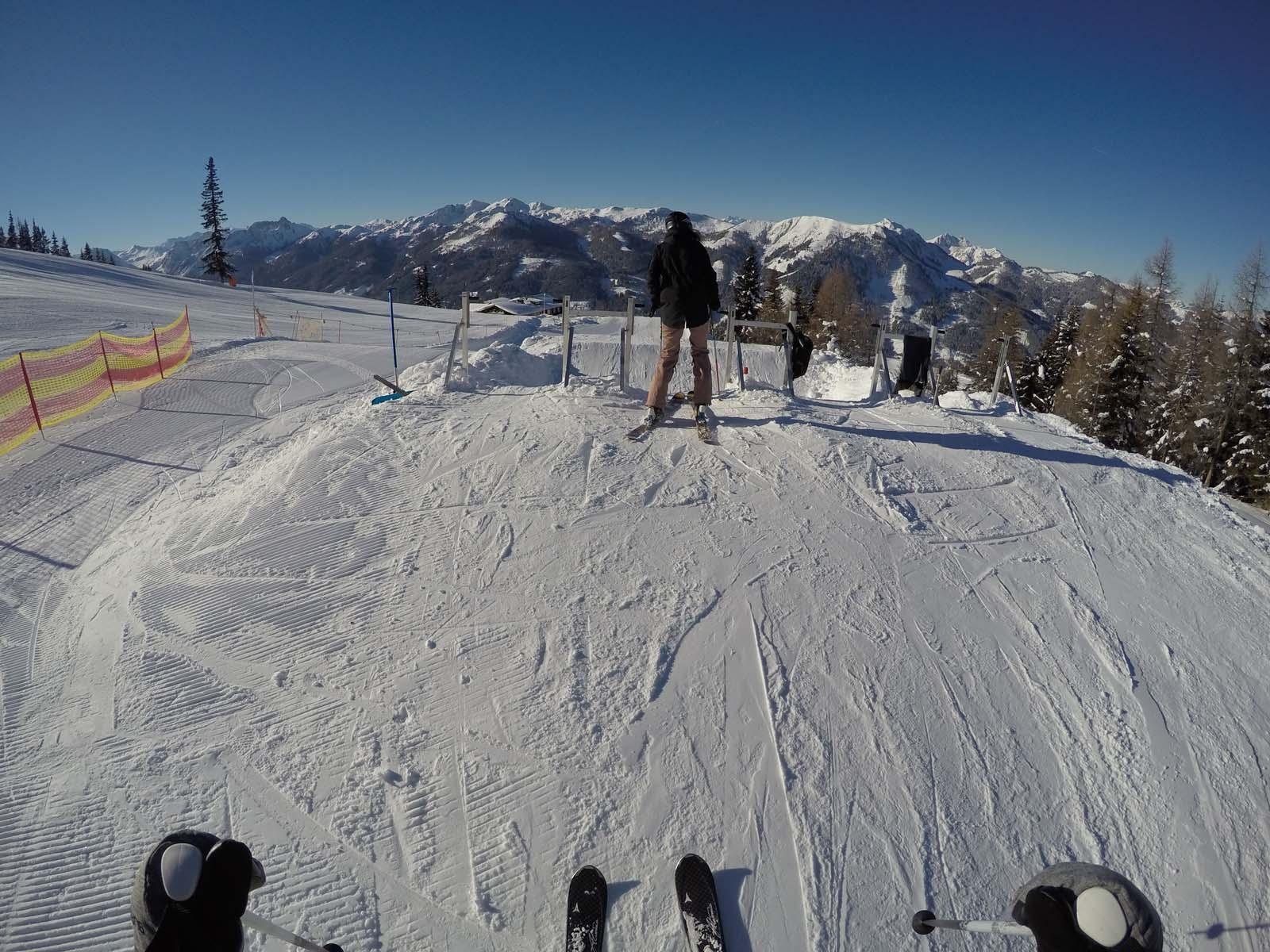 Lustiges Erlebnis am Berg