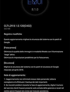 Huawei P20 Pro si aggiorna: arrivano le patch di aprile e ottimizzazione modalità Ritratto