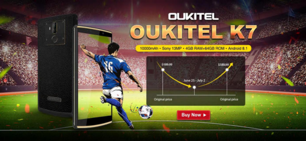 OUKITEL K7 Promo Flash su Gearbest a $159,99