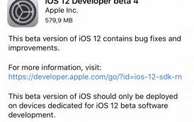 Apple iOS 12 beta 4 ufficiale per gli sviluppatori, ecco le novità