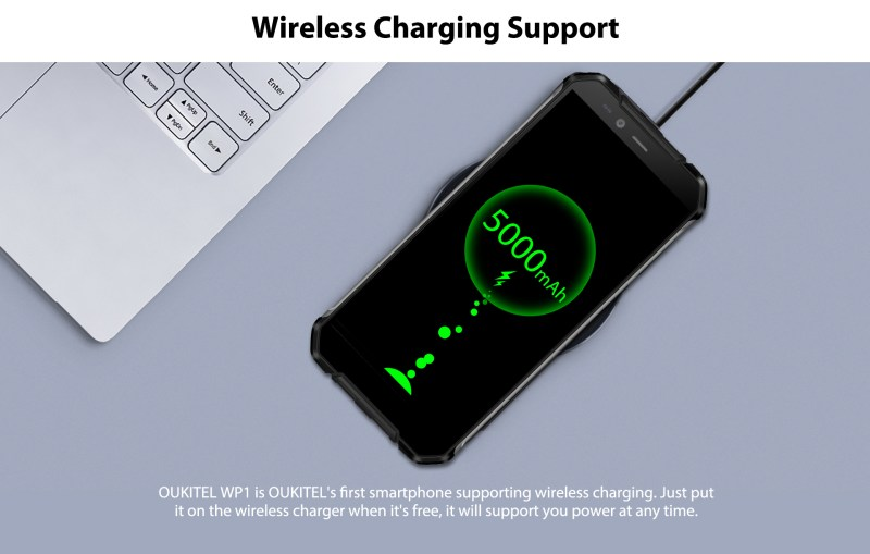 OUKITEL WP1 wireless charge