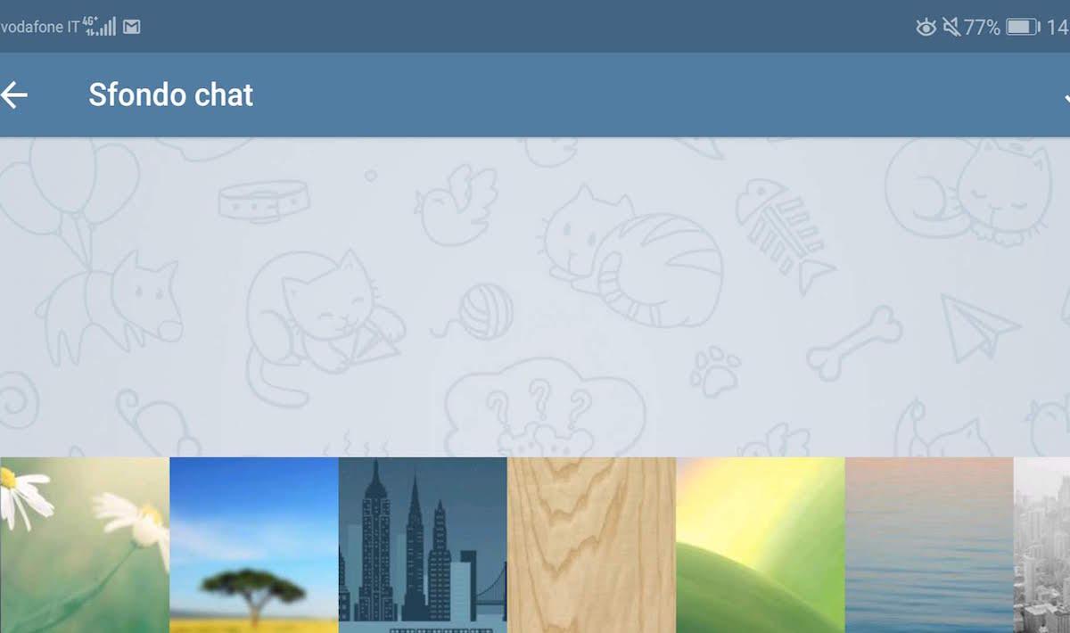 Come impostare un'immagine come sfondo delle conversazioni su Telegram