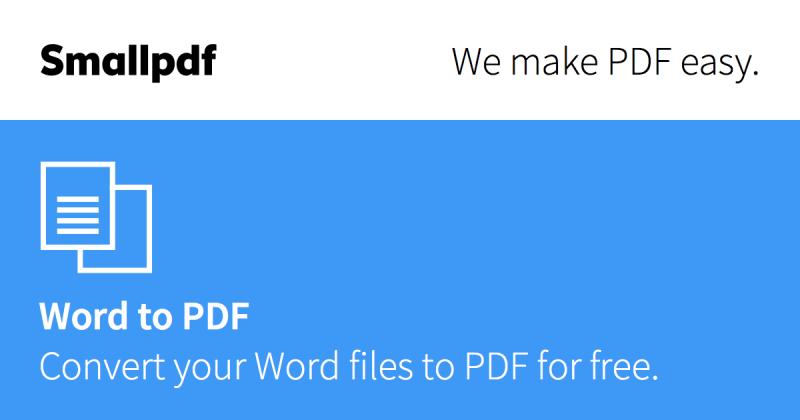 Come trasformare un file Word in PDF con un apposito programma
