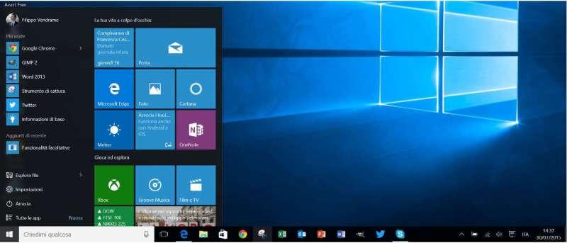 Come Personalizzare il menu Start su Windows 10