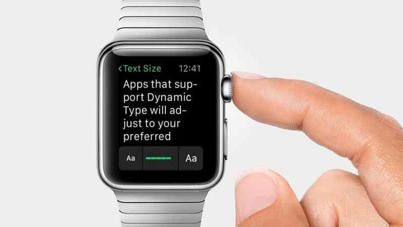 Come aumentare o diminuire le dimensioni del testo su Apple Watch