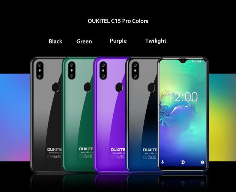 OUKITEL C15 Pro colors