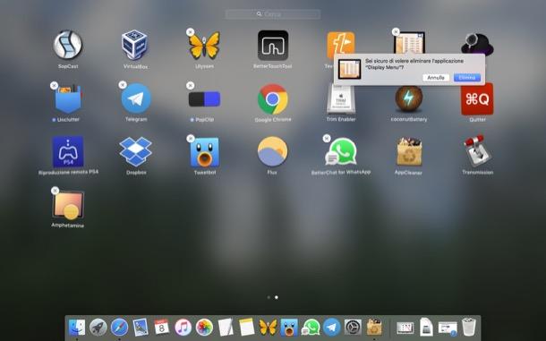Come disinstallare app da Mac