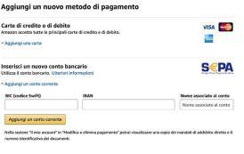Come pagare ordini Amazon da conto corrente bancario