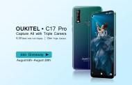 OUKITEL C17 Pro diventa ufficiale con omaggio, tripla fotocamera con display a foro cieco da 6,35 pollici