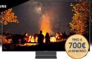 Offerta Samsung: rimborso acquistando un nuovo TV QLED fino a 700 euro