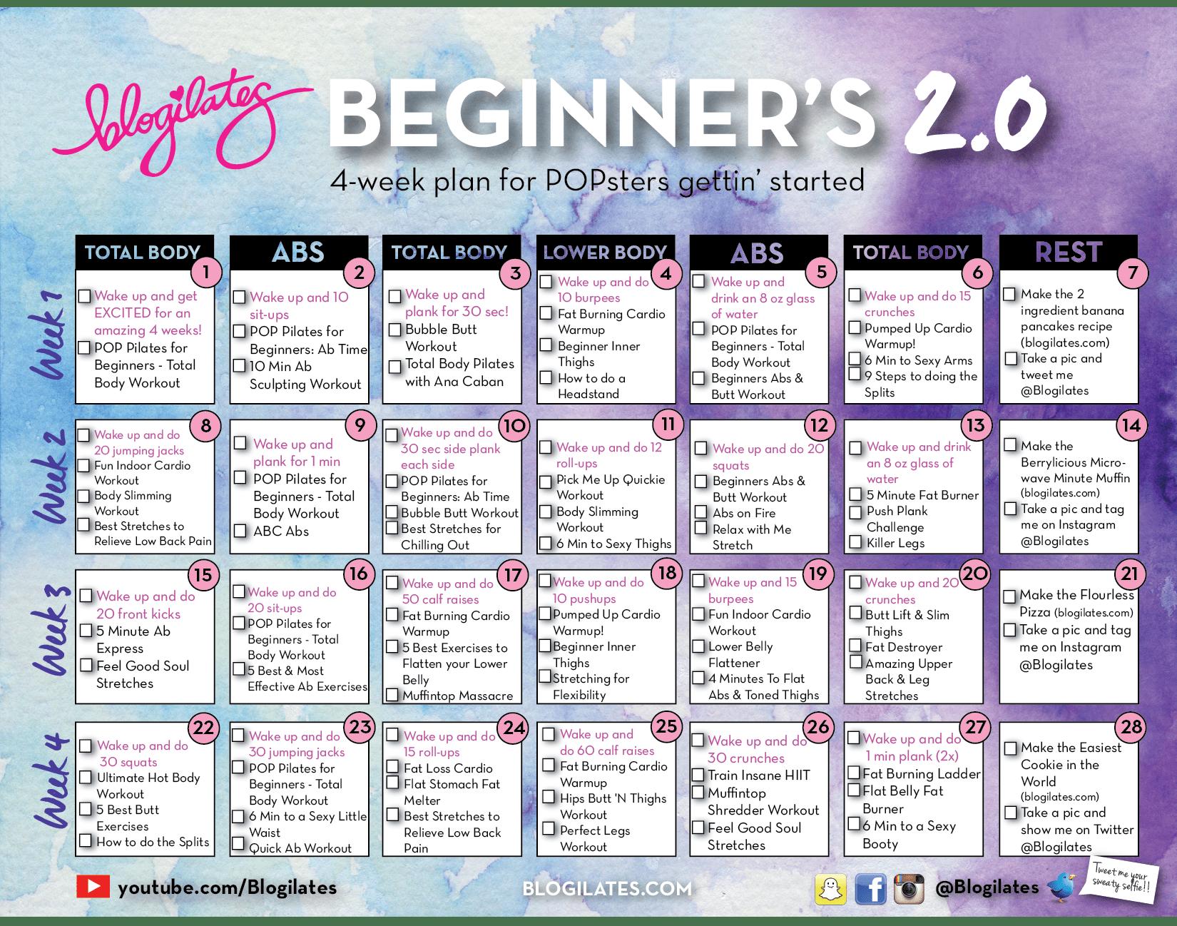 New Beginners Calendar 2 0