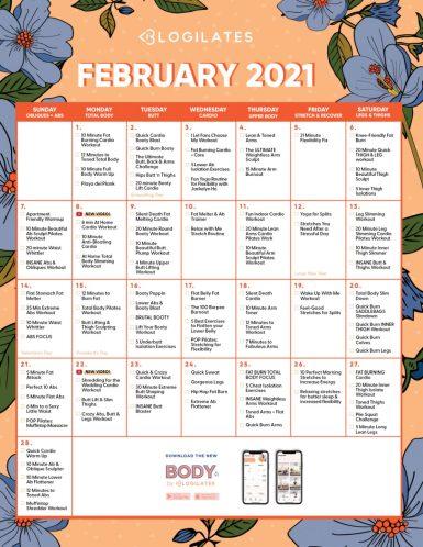 blogilates february 2021 workout calendar