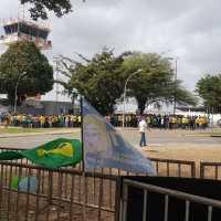 Cercadinho reservado para receber Bolsonaro no Maranhão fica 90% vazio