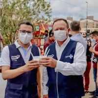 Vice-governador Carlos Brandão acompanha Arraial da Vacinação durante o fim de semana