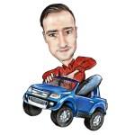Notre expert à bord de son Pick-Up Ford