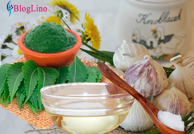 neem-garlic-coconut-oil-face-pack-for-skin-infection