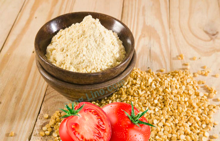 Tomatoes and Gram Flour Face Pack for All Skin Types