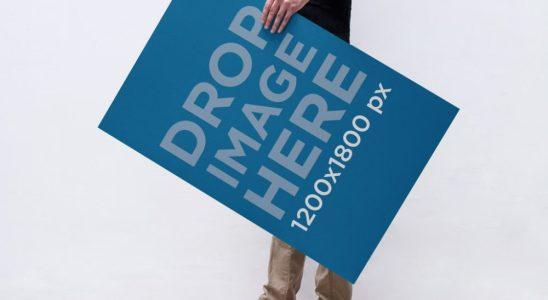 Mock-up cartaz