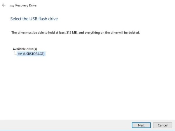 create and use windows recovery drive or system repair disk