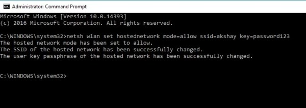 How to setup Wi-Fi hotspot in Windows 8 using cmd