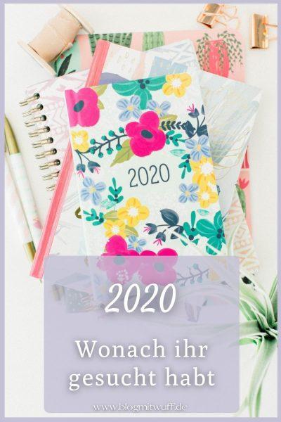 2020 Wonach ihr gesucht habt