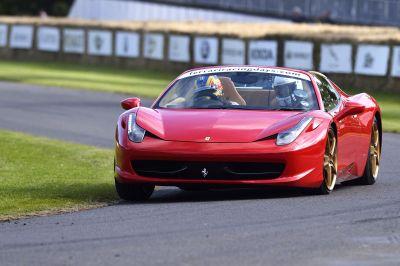 Ferrari 458 Spider, Ferrari California 30 ed F60:  Goodwood si è tinto di Rosso