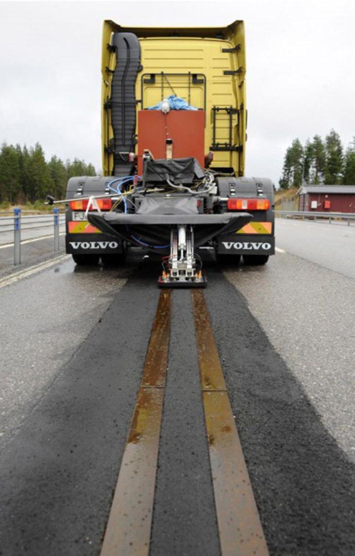 La strada elettrica pensata da Volvo per una mobilità sostenibile dei mezzi pesanti