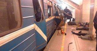 Esplosione nella metro a San Pietroburgo.