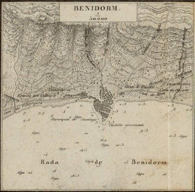 Resultado de imagen de mapa antiguo de benidorm