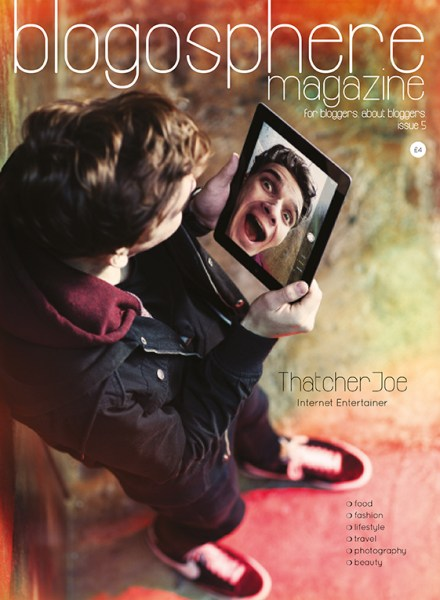 Joe Sugg - ThatcherJoe - Blogosphere Magazine Cover
