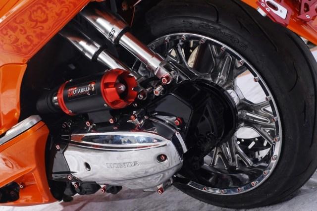 Honda PCX Modifikasi suspensi belakang