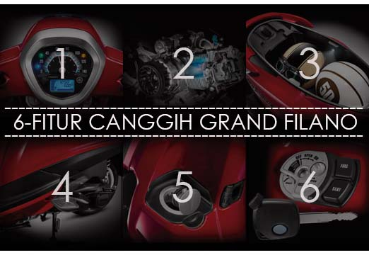 6 fitur canggih Yamaha Grand Filano
