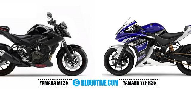 Adu Yamaha MT-25 vs Yamaha R25