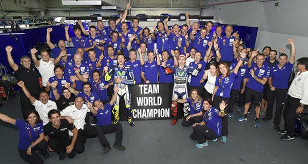Yamaha juara World Team Champions 2015