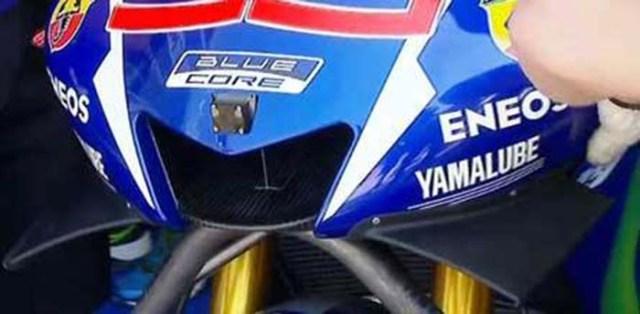 Sayap di Yamaha YZF-M1 Lorenzo