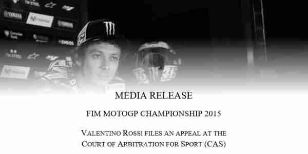 Rossi ajukan banding ke CAS